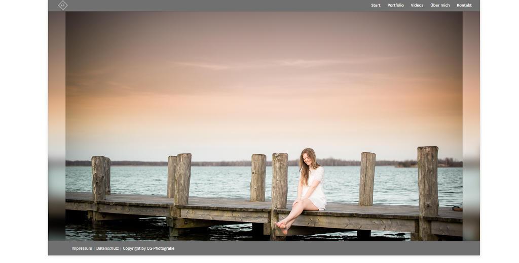 Screenshot der privaten Webseite des Hobbyfotografen Christian G.