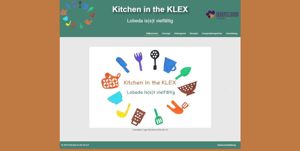 Screenshot der Webseite von Kitchen in the KLEX